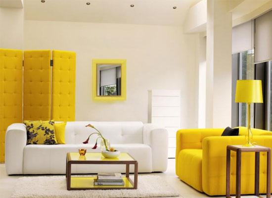 طراحی دکوراسیون داخلی - زرد